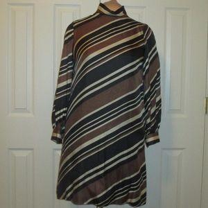 Vintage 1960s Junior Accent Striped Dress